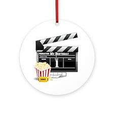 1st Birthday Hollywood Theme Ornament (Round)
