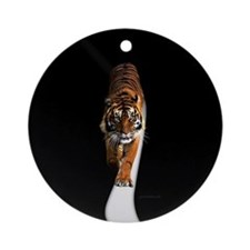 Tiger in the space Ornament (Round)