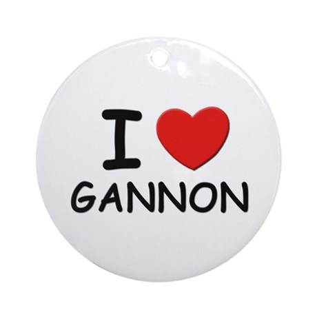 I love Gannon Ornament (Round)
