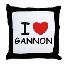 I love Gannon Throw Pillow