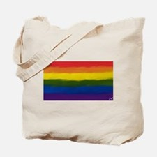 gay pride rainbow art Tote Bag