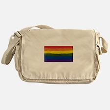 gay pride rainbow art Messenger Bag