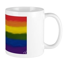 gay pride rainbow art Mug