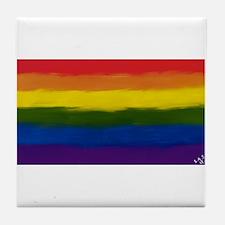 gay pride rainbow art Tile Coaster