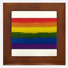 gay pride rainbow art Framed Tile