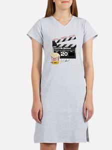 20th Birthday Hollywood Theme Women's Nightshirt