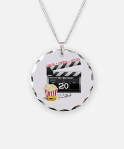 20th Birthday Hollywood Theme Necklace