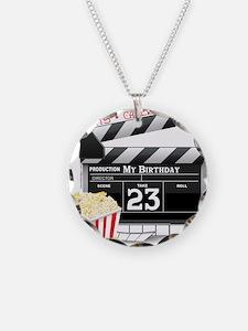 23rd Movie Birthday Necklace