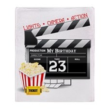 23rd Movie Birthday Throw Blanket