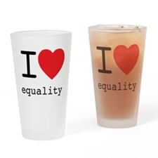 I Heart Equality Drinking Glass