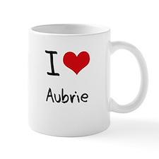 I Love Aubrie Small Mug