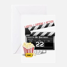 22nd Birthday Hollywood Theme Greeting Card