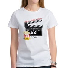 22nd Birthday Hollywood Theme Tee