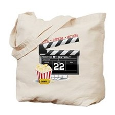 22nd Birthday Hollywood Theme Tote Bag
