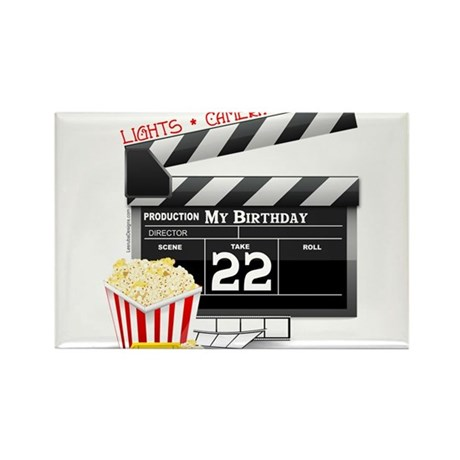 22nd Birthday Hollywood Theme Rectangle Magnet