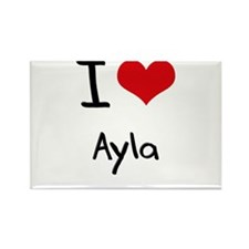 I Love Ayla Rectangle Magnet