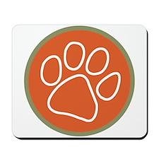 Paw print logo Mousepad
