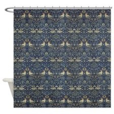 Morris Blue Pattern with Birds Shower Curtain