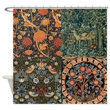 William Morris Designs Collage Shower Curtain