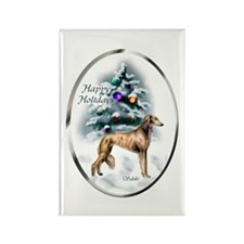 Saluki Christmas Rectangle Magnet (100 pack)