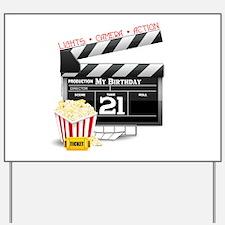 21st Movie Birthday Yard Sign