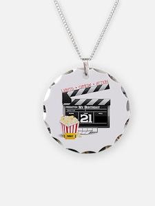 21st Movie Birthday Necklace