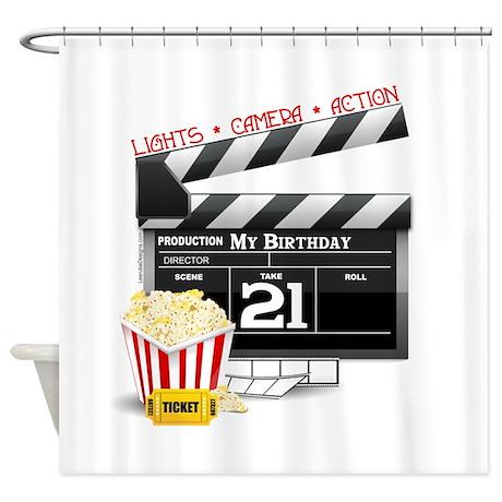 21st Movie Birthday Shower Curtain