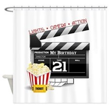 21st Movie Birthday Shower Curtain