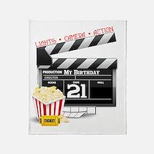 21st Movie Birthday Throw Blanket