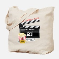 21st Movie Birthday Tote Bag