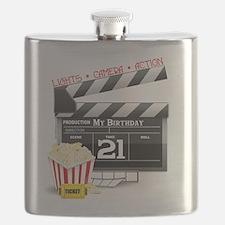 21st Movie Birthday Flask