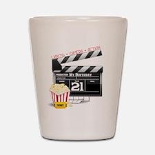 21st Movie Birthday Shot Glass