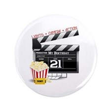 """21st Movie Birthday 3.5"""" Button"""