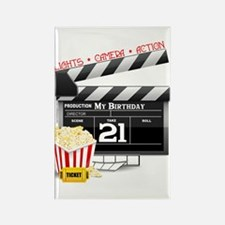 21st Movie Birthday Rectangle Magnet