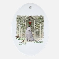 Samoyed Christmas Ornament (Oval)