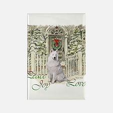 Samoyed Christmas Rectangle Magnet (10 pack)