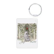 Samoyed Christmas Keychains