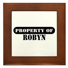 Property of Robyn Framed Tile