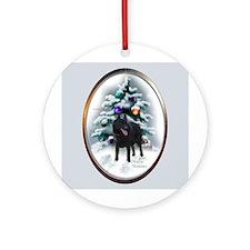 Schipperke Christmas Ornament (Round)