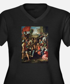 Christ Falling on the Way to Calvary Plus Size T-S
