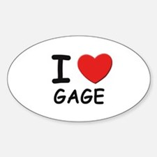 I love Gage Oval Decal