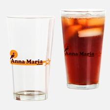 Anna Maria Island - Beach Design. Drinking Glass