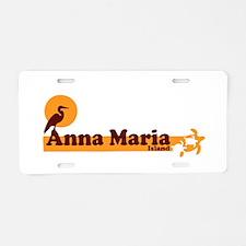 Anna Maria Island - Beach Design. Aluminum License