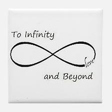 Infinity symbol Tile Coaster
