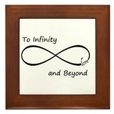 Infinity symbol Framed Tile