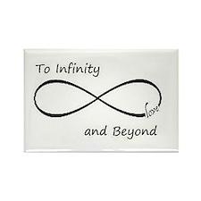 Infinity symbol Rectangle Magnet