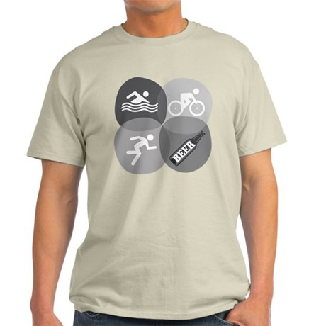 SwimBikeRunBeer-circles-2 T-Shirt
