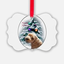 Schnoodle Christmas Picture Ornament