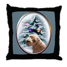 Schnoodle Christmas Throw Pillow