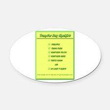 Transfer Day Checklist Oval Car Magnet